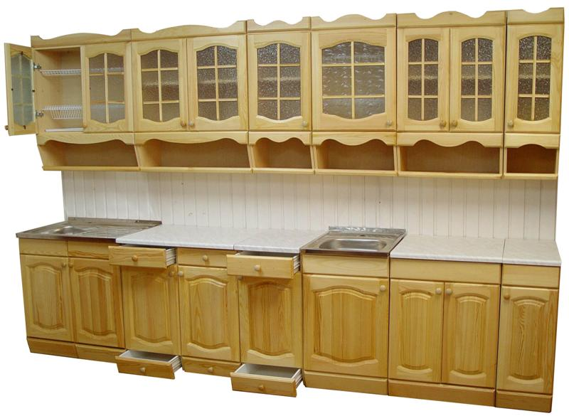 Кухня из массива сосны своими руками 54